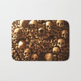Bones and Skulls in Paris, France catacombs Bath Mat