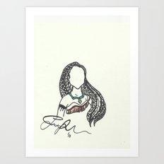 Pocahontas Zen Tangle Art Print