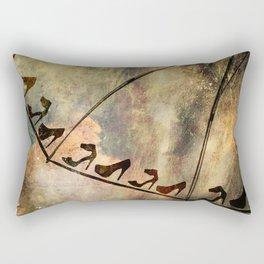 Walking in The Rain Rectangular Pillow