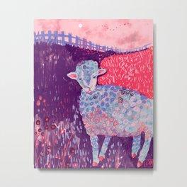 Bah bah blue sheep Metal Print