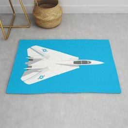 F-14 Tomcat Jet Aircraft - Cyan Rug