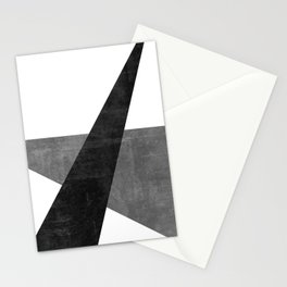Ambitious No. 2 | Abstract in Blacks + Grays Stationery Cards