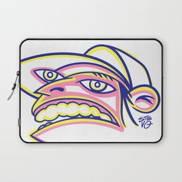 Skateboard Kid with Big Mouth and Crazy Eyes, Wearing Trucker Hat Laptop Sleeve