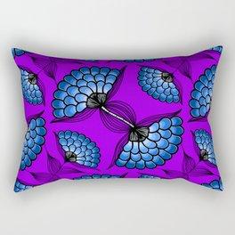 African Floral Motif on Purple Rectangular Pillow