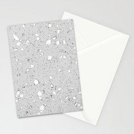 Terrazzo: grey Stationery Cards