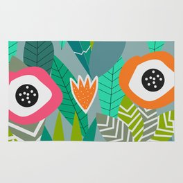 Abstract multicolored jungle Rug