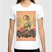 music notes T-shirts featuring Key notes  by nicky2342