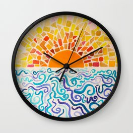 Cake by the Ocean Wall Clock