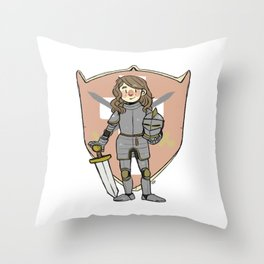Knight Cosette Throw Pillow