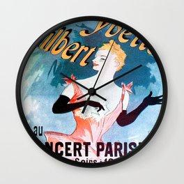 Vintage poster - Yvette Guilbert Wall Clock