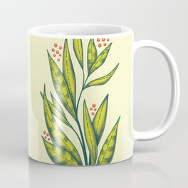 Abstract spring green plant with berries Coffee Mug