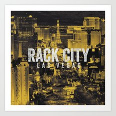 Black Yellow Cool Rack City Las Vegas Photography Art Print