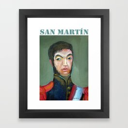 San Martin por Diego Manuel Framed Art Print