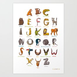 Wildlife-ABC Art Print