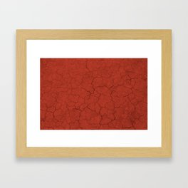 Walking on mars Framed Art Print