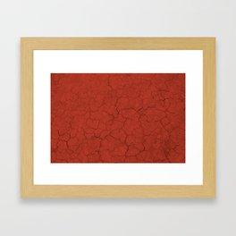 Walking on mars Framed Art Print