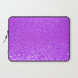 Purple Glitter Laptop Sleeve
