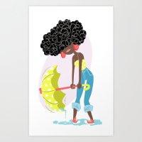 Shake it Out Art Print