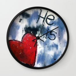 He is Love Wall Clock