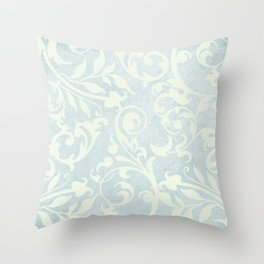 Shabby Chic Damask Throw Pillow