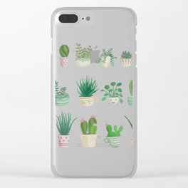 Tiny garden blue Clear iPhone Case