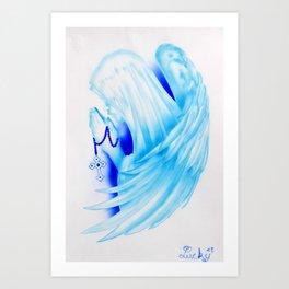 Santa Maria con ali Art Print
