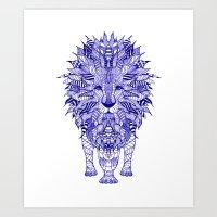 lion Art Prints featuring LIon by Monika Strigel®