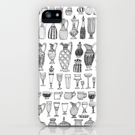 historic vessel pattern iPhone Case