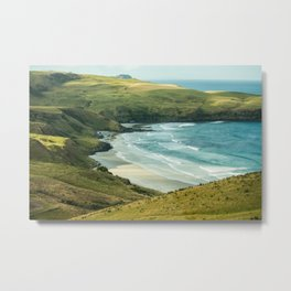 Cape Saunders Beach Metal Print