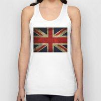 union jack Tank Tops featuring Union Jack by Bethan Eastwood