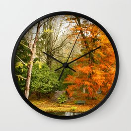 Willow in Autumn colors Wall Clock
