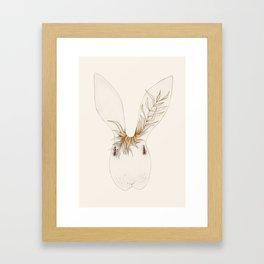 Miss Bunny Golden Brown Framed Art Print