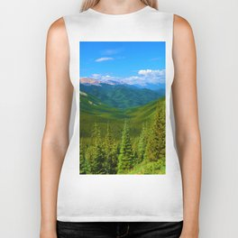 Views Along the Sulphur Skyline Trail in Jasper National Park, Canada Biker Tank