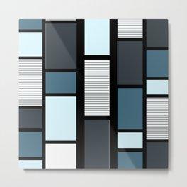 Mid Century Modern Panels Slate Metal Print