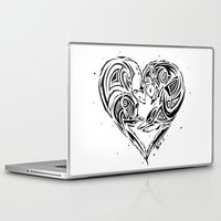 ferret Laptop & iPad Skins featuring Ferret Love by Mel Hampson