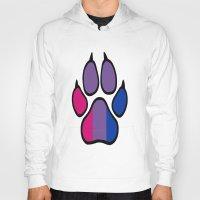 bisexual Hoodies featuring Bisexual Furry Pride by Jeymohr