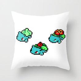 Bulb. Pixel Evolutions Throw Pillow