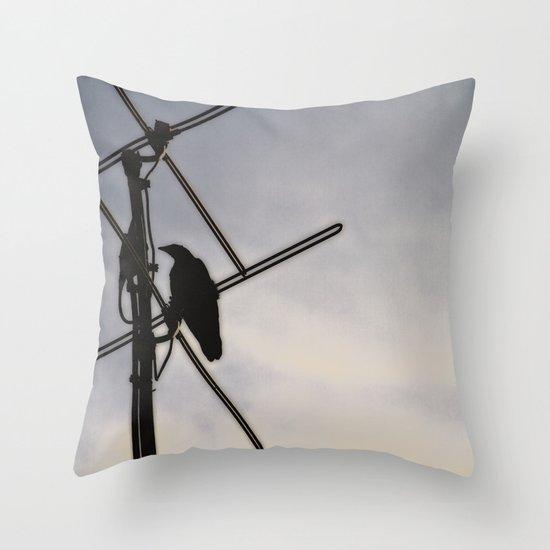Ravens Perch Throw Pillow