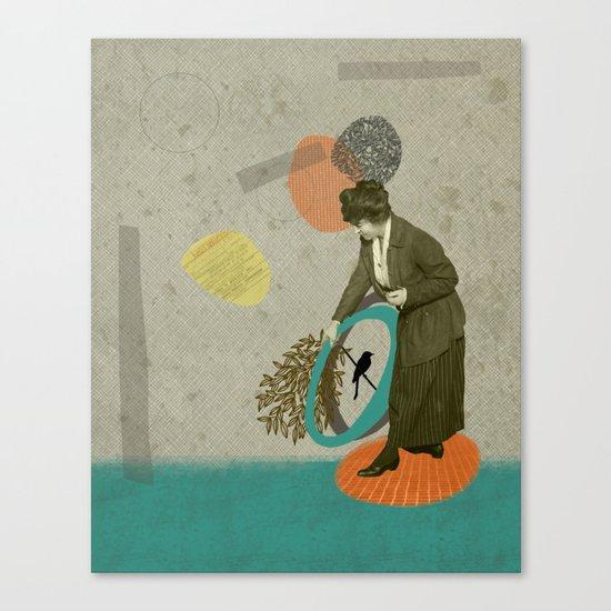 Driving getaway Canvas Print