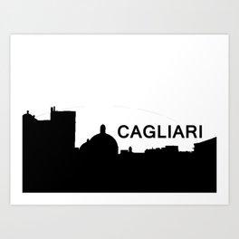 Cagliari Skyline Art Print