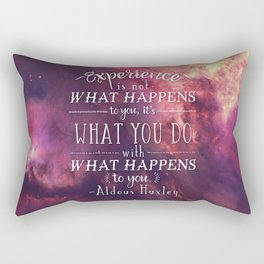 """Aldous Huxley Quote Poster - """"Experience is not what happens to you..."""" Rectangular Pillow"""