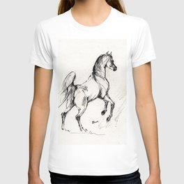 Jumping arabian horse T-shirt