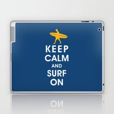Keep Calm and Surf On (Surfer Boy) Laptop & iPad Skin