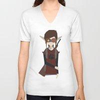 ellie goulding V-neck T-shirts featuring Ellie by Kieran Burke