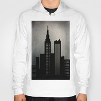 skyline Hoodies featuring City Skyline  by ALLY COXON