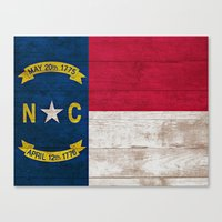 north carolina Canvas Prints featuring North Carolina by C Liza B