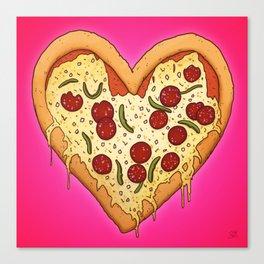 Pizza Heart Canvas Print