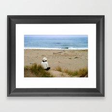 Watching The Ocean Framed Art Print