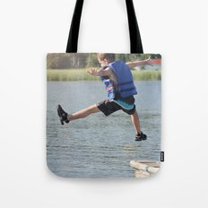 Harry Leaps! Tote Bag