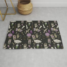 WITCH pattern • in black salt Rug